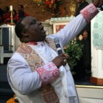 Bishop Barnett Karl Thoroughgood doing what he did best...