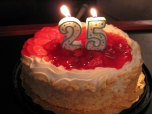 I'm 25 years old now... I'm hoping for some great things this year.